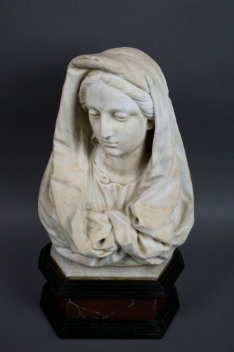 17th century Tuscany School -  Bust of the Virgin - Louis XIV