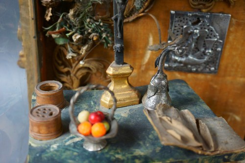 17th century - Great Reliquary Showcase with Diorama Relic of Saint Catherine of Siena, la