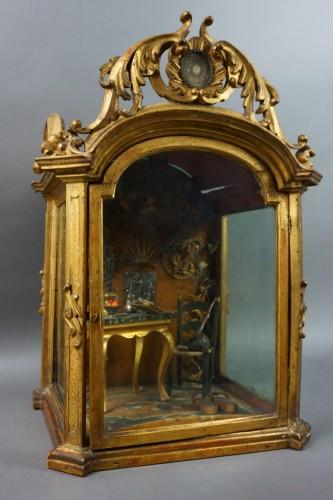 Antiquités - Great Reliquary Showcase with Diorama Relic of Saint Catherine of Siena, la