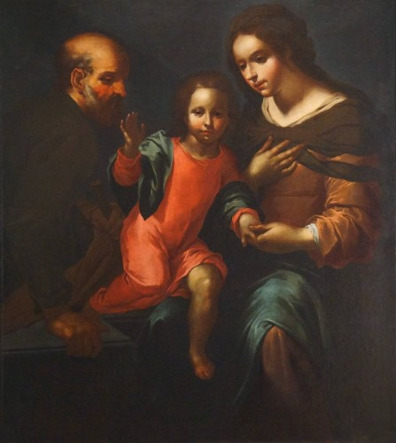 Giovanni Andrea de Ferrari (Genoa, 1598-1669) - he Holy Family