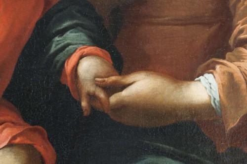 Giovanni Andrea de Ferrari (Genoa, 1598-1669) - he Holy Family  - Paintings & Drawings Style Louis XIV