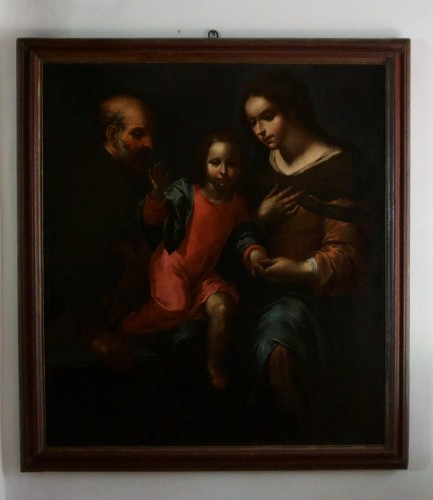 Giovanni Andrea de Ferrari (Genoa, 1598-1669) - he Holy Family  - Louis XIV