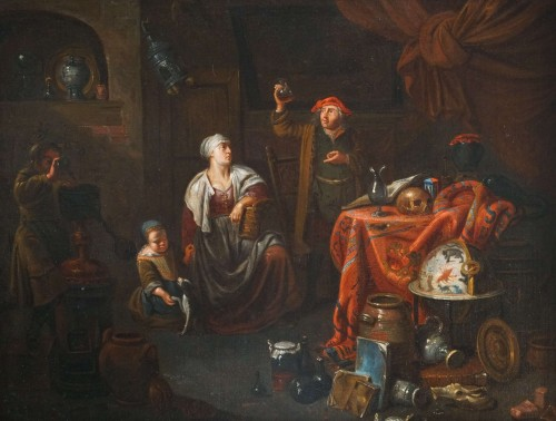 Gerard Thomas (Antwerp, 1663-1720) - The Pregnancy Test, Flemish Baroque