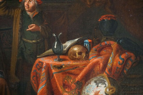 Paintings & Drawings  - Gerard Thomas (Antwerp, 1663-1720) - The Pregnancy Test, Flemish Baroque