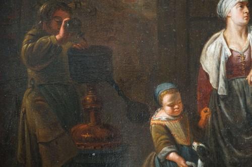Antiquités - Gerard Thomas (Antwerp, 1663-1720) - The Pregnancy Test, Flemish Baroque