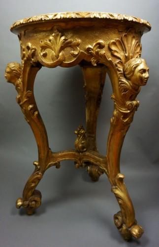 18th century - 18th Century Italian Pietra Dura Giltwood Inlaid Table