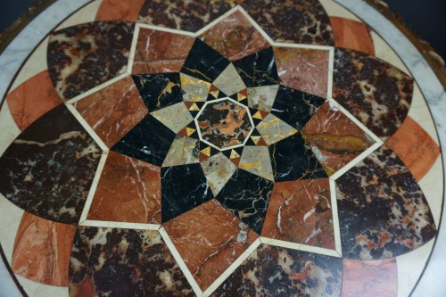 18th Century Italian Pietra Dura Giltwood Inlaid Table - Transition