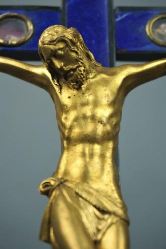 Cross Reliquary Gilt Bronze Lapis lazuli Italy 17th -