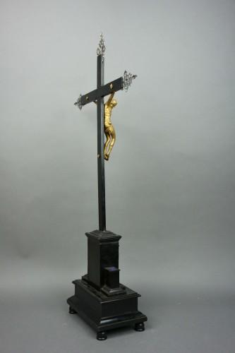 Louis XIV - Cross Reliquary Gilt Bronze Lapis lazuli Italy 17th