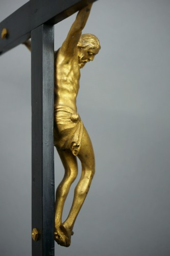 Antiquités - Cross Reliquary Gilt Bronze Lapis lazuli Italy 17th