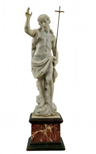 18th Century, Italian Marble Sculptur Saint John the Baptist