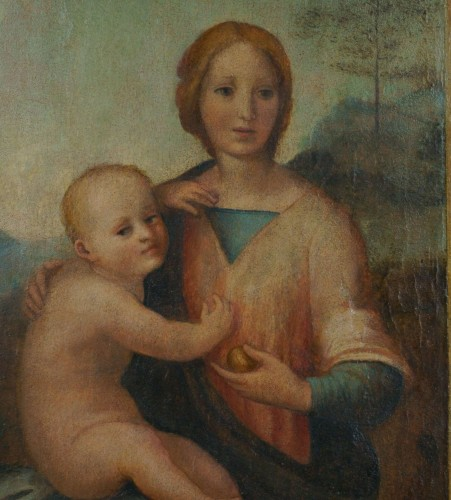"16th Century ""Virgin And Child"", Tempera On Panel, Tuscan School  - Paintings & Drawings Style Renaissance"