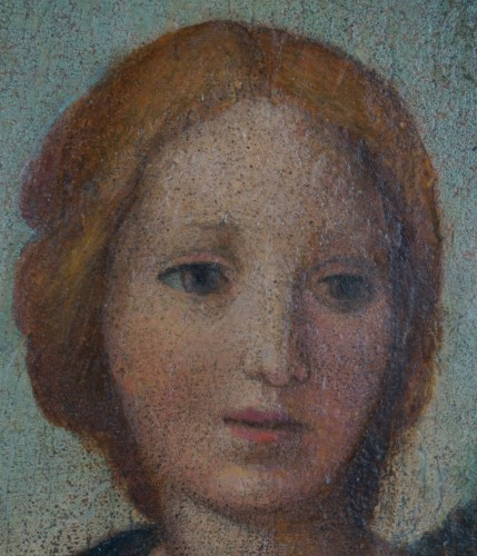 "Paintings & Drawings  - 16th Century ""Virgin And Child"", Tempera On Panel, Tuscan School"