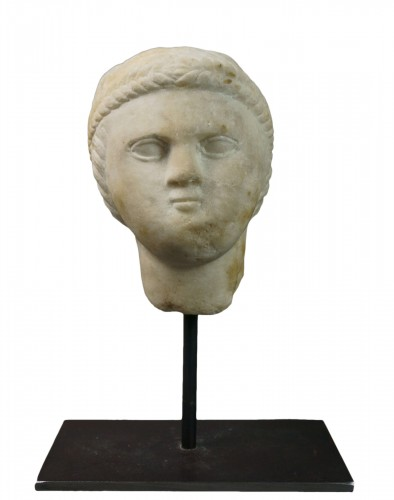 7th-8th century, Early Middle Ages, Italian Lombard Marble Head