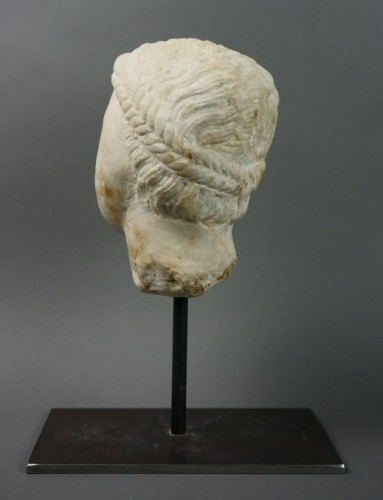 Sculpture  - 7th-8th century, Early Middle Ages, Italian Lombard Marble Head