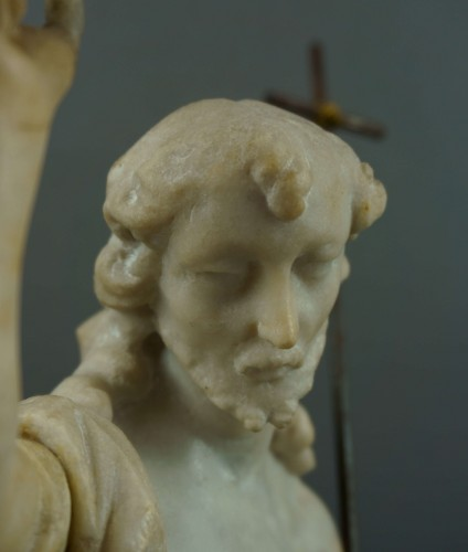 Sculpture  - 18th century, Italian Marble Sculptur Resurrected Christ