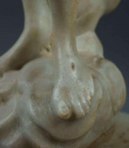Antiquités - 18th century, Italian Marble Sculptur Resurrected Christ