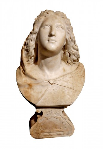 17th century Baroque Marble Italian Bust