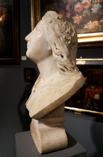 17th century Baroque Marble Italian Bust - Sculpture Style Louis XIV
