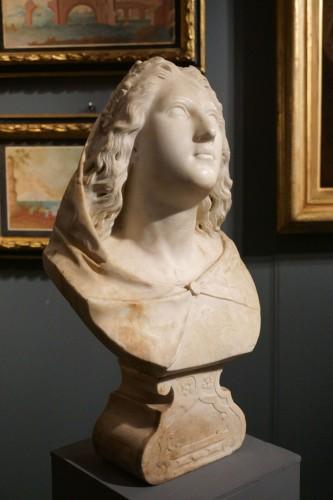 17th century Baroque Marble Italian Bust -