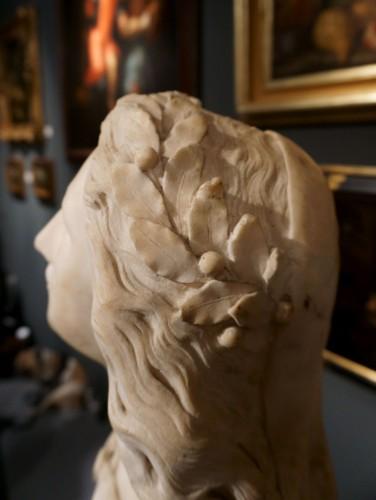 17th century Baroque Marble Italian Bust - Louis XIV