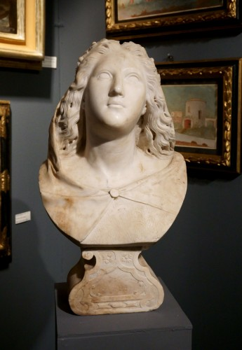 Antiquités - 17th century Baroque Marble Italian Bust