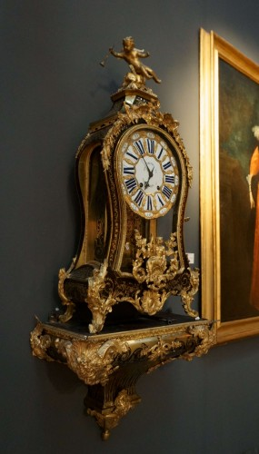 18th Century Regency Boulle Marquetry Cartel Clock Fortin Signed -