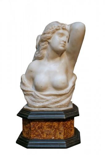 17th Century Italian Marble Cleopatra Bust