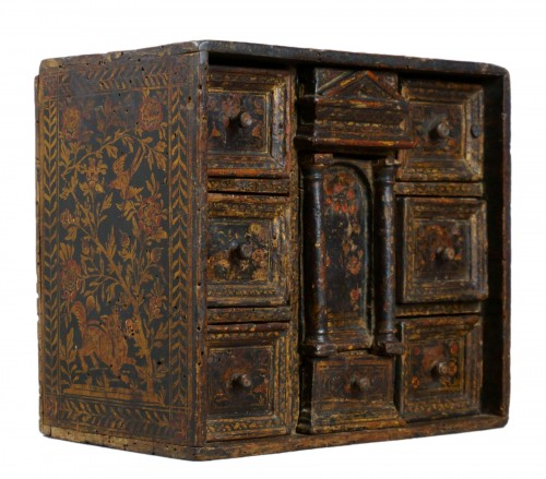 Lacquered Venetian Cabinet Persian Decor late 16th century