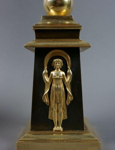 Pair of Empire gilt bronze ormolu candelabra - Lighting Style Empire