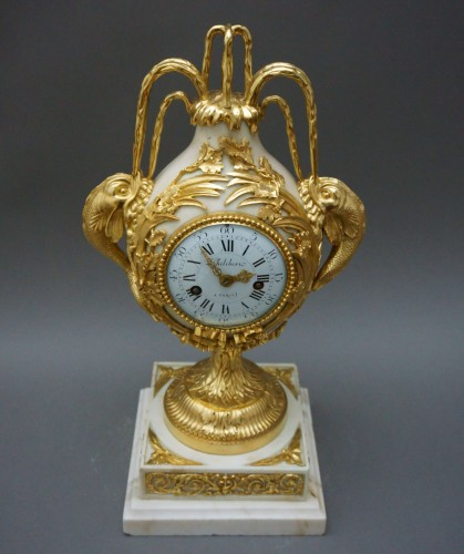 Clocks  - French Louis XVI Ormolu Mantel Clock Vase Brécourt model