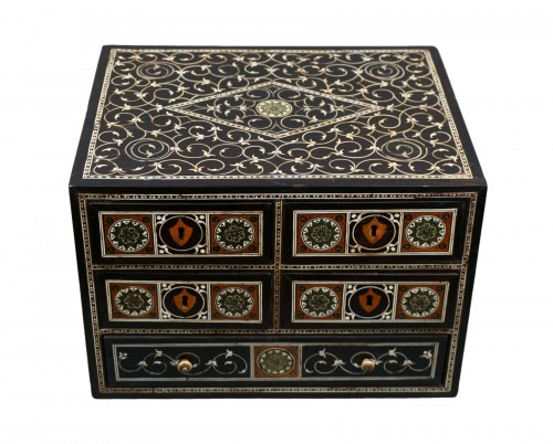 Late 16th Century Sadeli Inlaid Coin Cabinet, Gujarat or Sindh