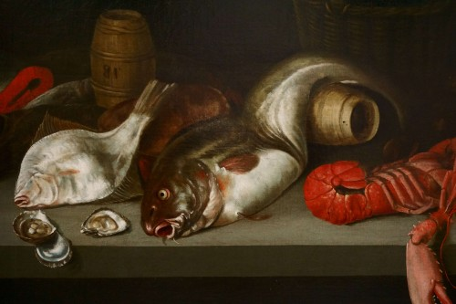 Paintings & Drawings  - Alexander Adriassen, Still Life With Oysters, Fish And Lobsters 17th