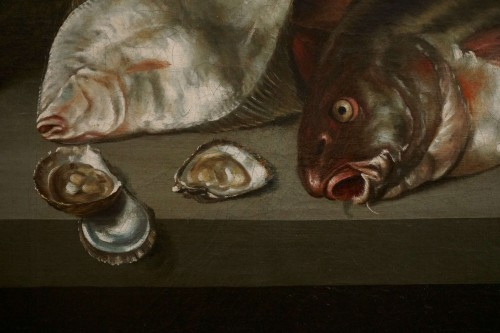17th century - Alexander Adriassen, Still Life With Oysters, Fish And Lobsters 17th
