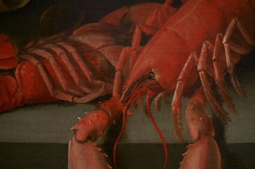 Louis XIII - Alexander Adriassen, Still Life With Oysters, Fish And Lobsters 17th