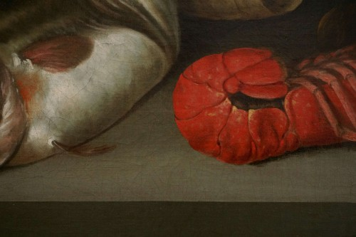 Antiquités - Alexander Adriassen, Still Life With Oysters, Fish And Lobsters 17th