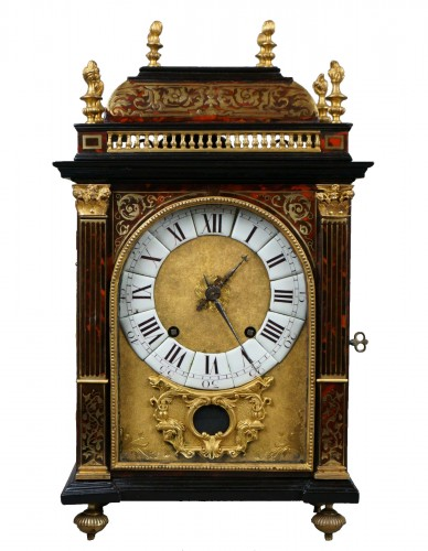 17th Century Louis XIV Boulle Marquetry Louis Ourry Religieuse Clock
