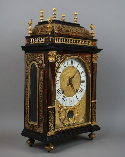 17th Century Louis XIV Boulle Marquetry Louis Ourry Religieuse Clock - Clocks Style Louis XIV