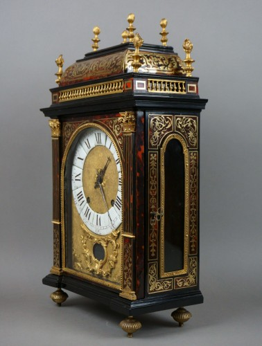 17th Century Louis XIV Boulle Marquetry Louis Ourry Religieuse Clock -
