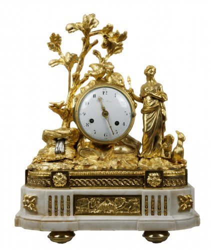 Imposing Allegorical Louis XVI Period Ormolu Bronze Mantel Clock