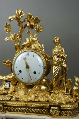 Imposing Allegorical Louis XVI Period Ormolu Bronze Mantel Clock - Clocks Style Louis XVI