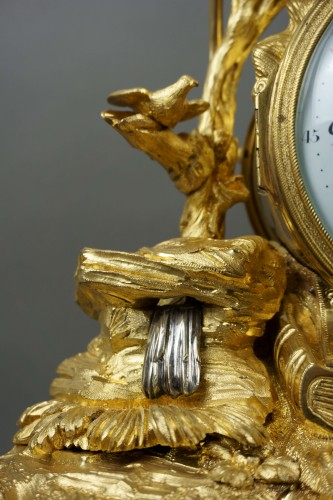 Imposing Allegorical Louis XVI Period Ormolu Bronze Mantel Clock -