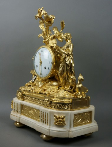 Louis XVI - Imposing Allegorical Louis XVI Period Ormolu Bronze Mantel Clock