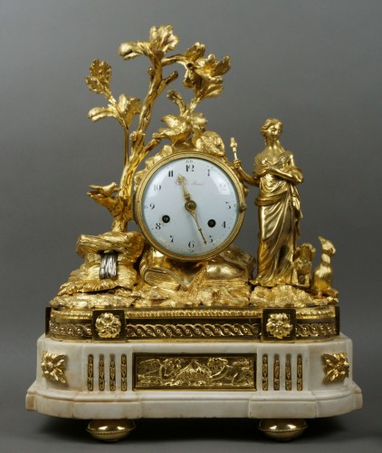 Antiquités - Imposing Allegorical Louis XVI Period Ormolu Bronze Mantel Clock