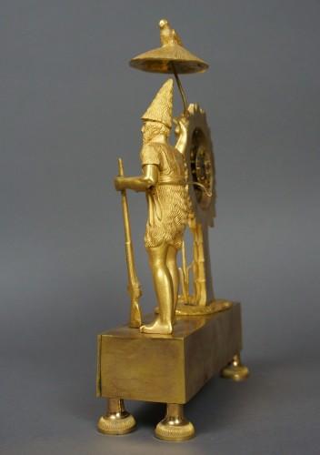 Clocks  - Au Bon Sauvage Series Ormolu Gilt Bronze Empire Mantel Clock Lépine