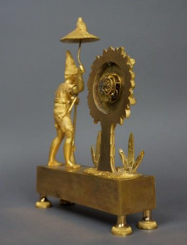 Au Bon Sauvage Series Ormolu Gilt Bronze Empire Mantel Clock Lépine - Empire