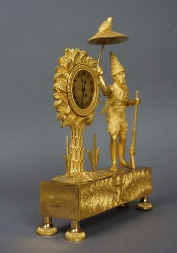 Empire - Au Bon Sauvage Series Ormolu Gilt Bronze Empire Mantel Clock Lépine