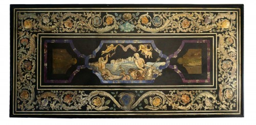 17th Century Italian Polychrome Scagliola Table Top