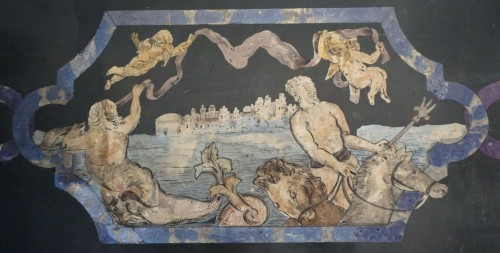Decorative Objects  - 17th Century Italian Polychrome Scagliola Table Top