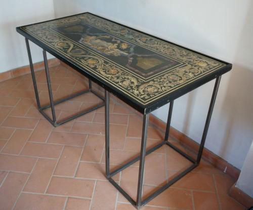 17th Century Italian Polychrome Scagliola Table Top - Louis XIV